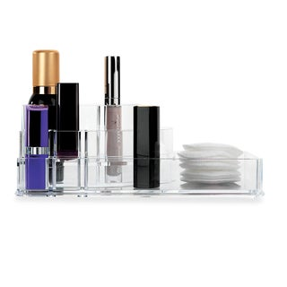 Sleek 3-step Acrylic 8-compartment Cosmetic Organizer