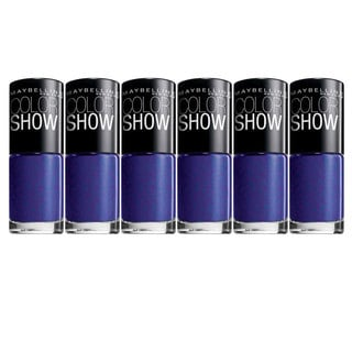 Maybelline New York Color Show Blue Freeze Nail Lacquer (Pack of 6)