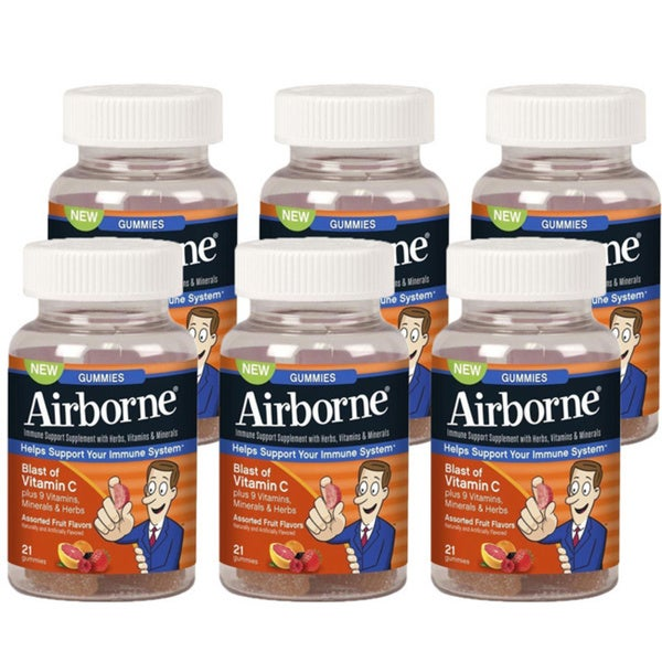 Airborne Vitamin C Gummies (Pack of 6)