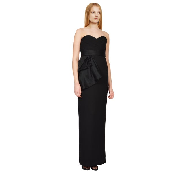 Notte by Marchesa Statuesque Black Sweetheart Column Evening Dress