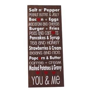 Salt N' Pepper Board Decorative Accessory
