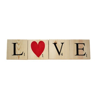 Love Scrabble Tiles Decorative Accessory