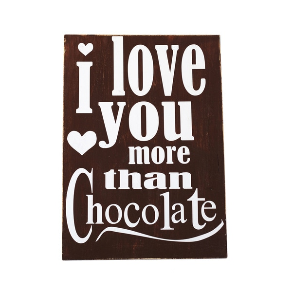 I Love You More Than Chocolate Decorative Accessory