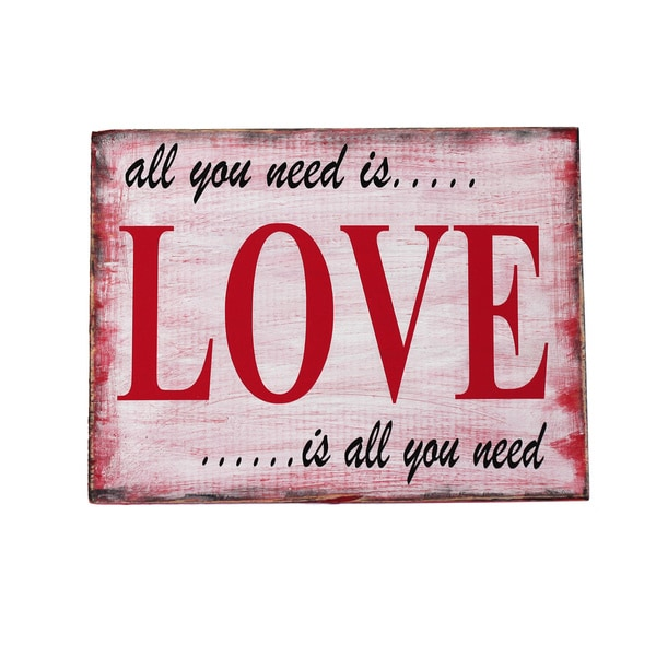 All You Need Is Love Board Decorative Accessory