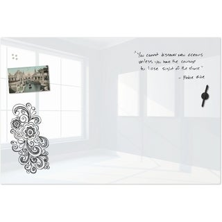 Best-Rite Luxe Glass Magnetic Whiteboard