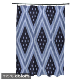 Tidbal Diamond Geometric Pattern Shower Curtain