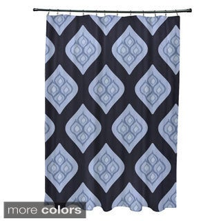 Geometric Abstract Diamond Pattern Shower Curtain