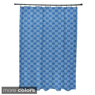 Static Check Geometric Pattern Shower Curtain