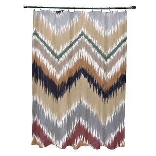 Tribal Chevron Pattern Shower Curtain