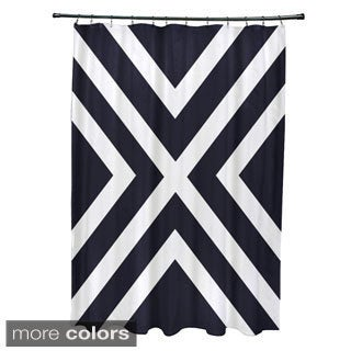 X' Stripes Pattern Shower Curtain