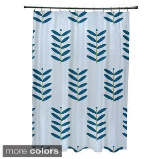 Floral Leaf Pattern Shower Curtain
