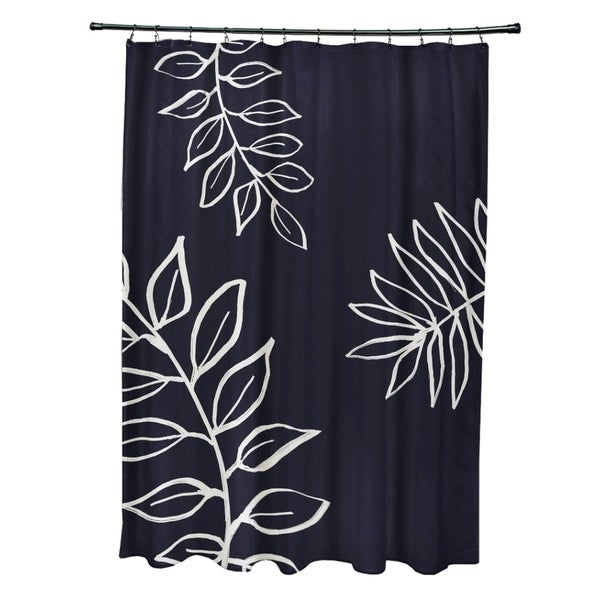 Leaf Pattern Shower Curtain (As Is Item)