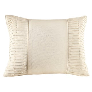 Welspun Crowning Touch Cotton Natural Decorative Throw Pillow