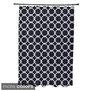 Trellis Geometric Pattern Shower Curtain