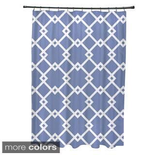 Geometric Trellis Pattern Shower Curtain