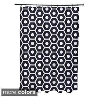 Geometric Honeycomb Pattern Shower Curtain