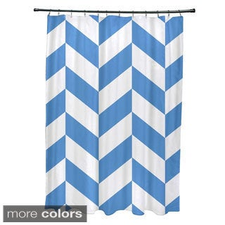 Mixed Chevron Geometric Pattern Shower Curtain