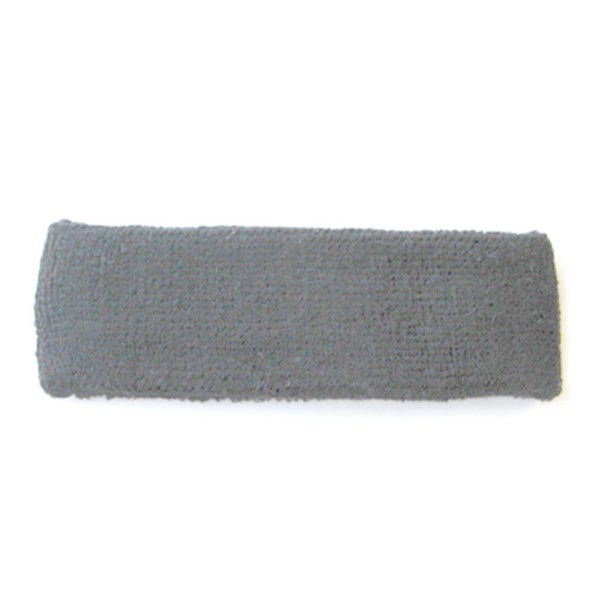 Grey Terry Cotton Headband