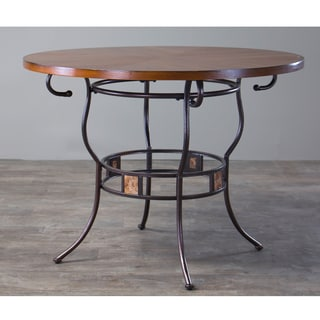 Tirana Wood and Metal Transitional Dining Table