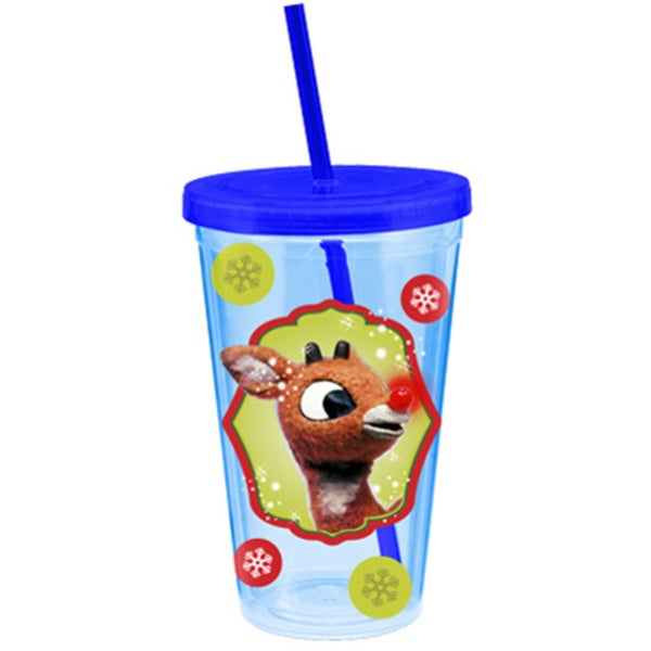 Rudolph The Red-nosed Reindeer Acrylic 18-ounce Travel Cup 14814395