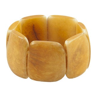 Faire Collection Polished Tagua Nut Bracelet in Incan Sun (Ecuador)