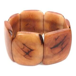 Faire Collection Polished Tagua Nut Bracelet in Nude (Ecuador)