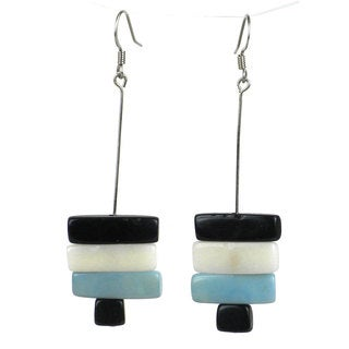 Faire Collection Rialto Tagua Nut Earrings in Onyx (Ecuador)