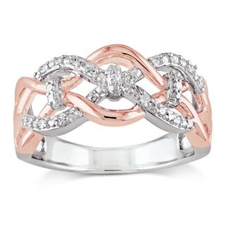 Haylee Jewels Sterling Silver 1/10ct TDW Diamond Infinity Ring (G-H, I2-I3)