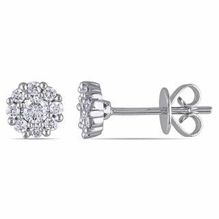 Miadora 14k White Gold 2/5ct TDW Diamond Stud Earrings (G-H, SI1-SI2)