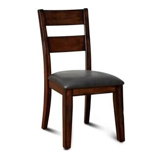 Furniture of America Katrine Dark Cherry Dining Chair (Set of 2)