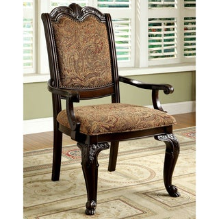 Furniture of America Oskarre Formal Fabric Arm Chairs (Set of 2)