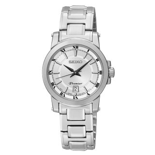 Seiko Women's SXDF41 Premier Stainless Steel Watch
