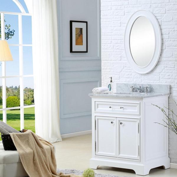 Water Creation Derby 30 Inch Cashmere Grey Single Sink Bathroom Vanity