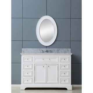 Water Creation Derby 48W 48-inch Solid White Single Sink Bathroom Vanity