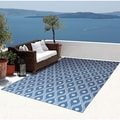 Rug Squared Palmetto Navy Indoor/ Outdoor Area Rug (10' x 13')