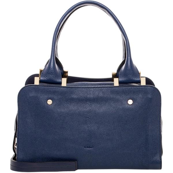 Chloe Blue Medium Dalston Leather Handbag