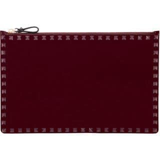 Valentino Purple Studded Patent Leather Clutch