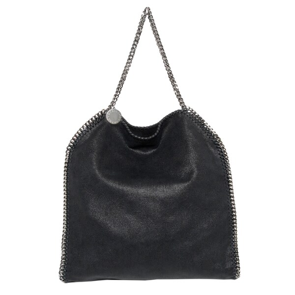Stella McCartney Black Falabella Shaggy Deer Big Tote
