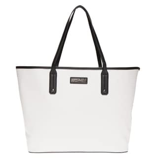 Kenneth Cole Reaction Embossed Logo Autograph Tote