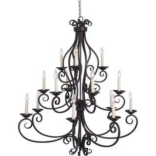 Maxim Lighting Manor 15-light Bronze Multi-tier Chandelier