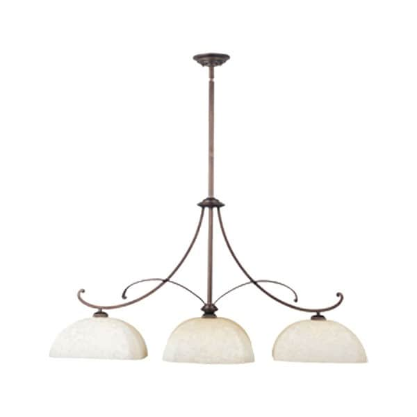 Iron 3-light Chrome Oak Harbor Island Pendant
