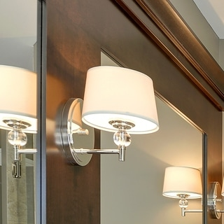 Metal 1-light Nickel Rondo Wall Sconce