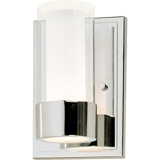 Maxim Metal 1-light Chrome Silo Wall Sconce