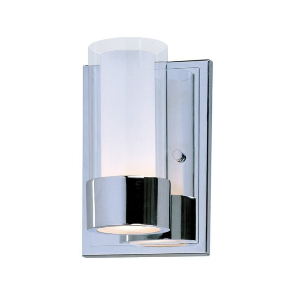 Metal 1-light Chrome Silo Wall Sconce