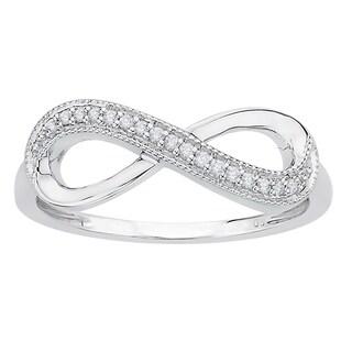 10k White Gold Diamond Accent Infinity Ring