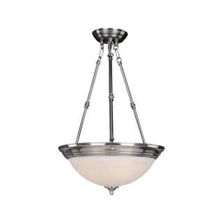 Iron 3-light Nickel Essentials 584x Invert Bowl Pendant