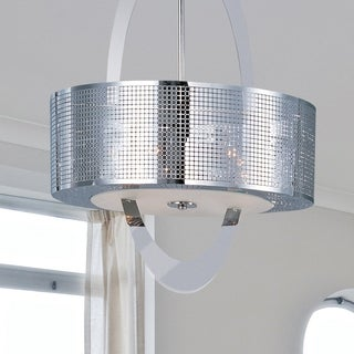 Metal 6-light Nickel Mirage Single Pendant
