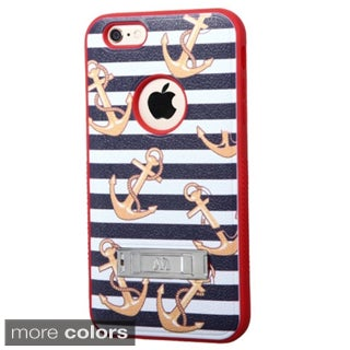 Insten Design Pattern Verge Hard PC/ Silicone Dual Layer Hybrid Phone Case Cover with Stand For Apple iPhone 6