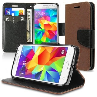 Insten Leather Phone Case Cover Lanyard with Stand/ Wallet Flap Pouch For Samsung Galaxy Core Prime