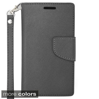 Insten Leather Phone Case Cover Lanyard with Stand/ Wallet Flap Pouch For Samsung Galaxy Core Prime/ Prevail